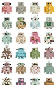 Studio Ditte behang robots..