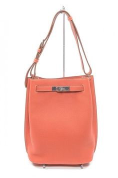 HERMES 22cm Sanguine Togo Leather 'So Kelly' Shoulder Bag