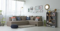 A good sofa set is perhaps the heart and soul of a living room. Being the key element of living Sofa Set Designs, Sofa Design, Indian Living Rooms, Living Room Modern, Room Decor Bedroom, Interior Design Living Room, Flexible Furniture, Simple Home Decoration, Luxury Sofa