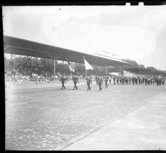 American Legion Band on Track, 1946 :: Indianapolis Motor Speedway Collection
