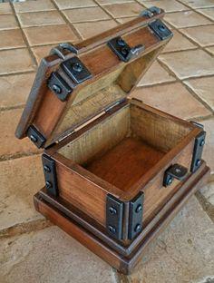 wood jewelry box rustic wood watch box reclaimed wood #Rusticwood