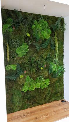 Wall Garden Indoor, Indoor Plants, Moss Garden, Garden Art, Plant Wall, Plant Decor, Wall Art Designs, Wall Design, Moss Graffiti