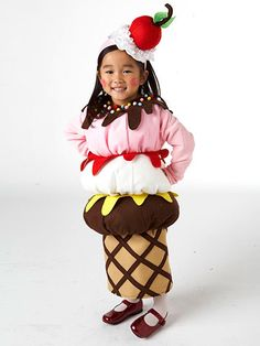What is sweet and cute with a cherry on top and perfect for trick-or-treating? This adorable ice cream cone Halloween costume, of course.