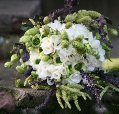 hops incorporated into a lovely flower bouquet