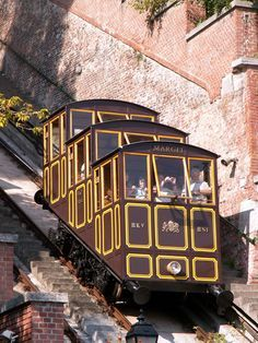 Castle Hill Funicular - An old fashioned lift that saves you heaps of walking when you want to get to Castle. Budapest, Hungary