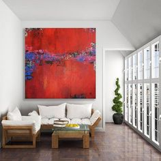 Original abstract painting created in my studio, Calgary, Canada. COMPOSITION: Red, black, green, blue, pink, white and orange on a textured background ~ MEDIUM: Professional grade acrylic paints and mediums. I finish all of my paintings with a clear matte coating in order to