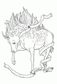 """UNICÓRNIO CHINÊS Projeto de ilustrações para o """"Livro dos seres imaginários"""""""