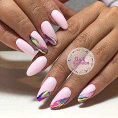 Round Nails, Oval Nails, Taupe Nails, Oval Shaped Nails, Fancy Nail Art, Nailart, Pink Manicure, Almond Nails Designs, Nail Polish Art