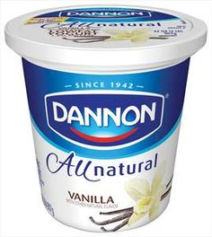 Dannon All Natural Vanilla Yogurt - USA