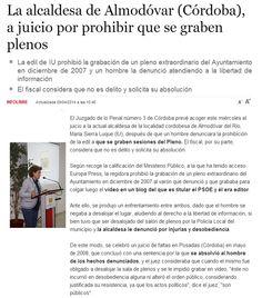 """WEBSEGUR.com: ALCALDE, UN ACTO PÚBLICO, ES ESO... """"PÚBLICO"""""""