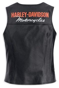 Harley-Davidson® Womens Classica Black Leather Vest