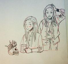 new season new fanart :) Hollstein fan art by  Tumblr user celina-grr #Carmilla
