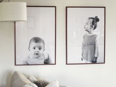 Walnut frames from IKEA - Honey, I Blew Up The Kids | Tips for Making Engineer Prints Look Their Best