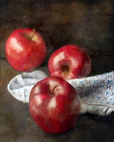 Another great find on Apples Wrapped Canvas The Scottish Play, Apples Photography, Art Photography, Apple Picture, Painting Still Life, Light Texture, Rustic Farmhouse Decor, Red Aesthetic, Still Life Photography