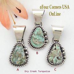 Four Corners USA Online - Petite Dry Creek Turquoise Sterling Pendant Navajo Artisan Alice Johnson NAP-1570, $45.00 (http://stores.fourcornersusaonline.com/petite-dry-creek-turquoise-sterling-pendant-navajo-artisan-alice-johnson-nap-1570/)