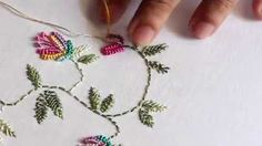 cast on embroidery stitch - YouTube