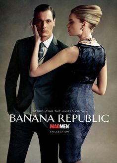 Banana Republic Mad Men Collection F/W 11 (Banana Republic).   Nathaniel Goldberg - Photographer.   Alex Gonzalez - Creative Director.   Raul Martinez - Creative Director.   Ludivine Poiblanc - Fashion Editor/Stylist.   Stefanie Stein - Casting Director.   Agnete Hegelund - Model.   Philippe Reynaud - Model.