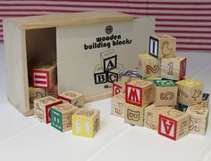 Gorgeous vintage style wooden number blocks for childrenVintage style wooden number blocks with images, numbers and the full alphabet. A very lovely piece that can be played with or kept as a keepsake, an ideal toy to pass down from generation to generation. Great for teaching your child to count and learn the alphabet in a fun and creative way!woodThe cubes measure approx 3.5cm square and the box is approx 16cm in length x 12.5cm width x 4xm depth.