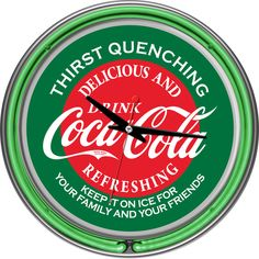 Coca Cola Red/ Green Neon Ring Clock - Overstock™ Shopping - Great Deals on Trademark Games Billiard & Pool Accessories