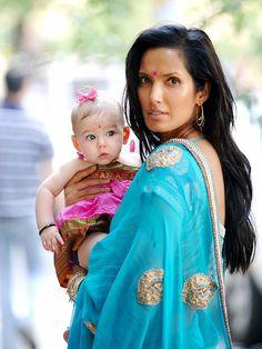 Padma Lakshmi and her daughter #mothersanddaughters #love #family www.WhereBeautifulThingsHappen.com