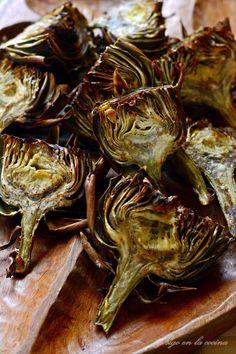Alcachofas al horno Clean Recipes, Fish Recipes, Healthy Recipes, Keto Recipes, Recipies, Tapas Restaurant, Artichoke Recipes, Good Food, Yummy Food