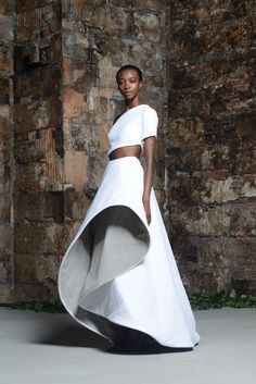 Look 32 very interesting direction this designer is experimenting with