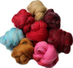 Arrakis  mini batts 2.2 oz. polwarth wool bamboo by hobbledehoy