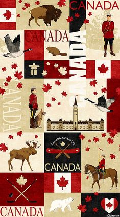 Canadian Classics Fabric by the yard / Canadian Mountie Fabric, Deborah Edwards Northcott Digital Yardage, Fat Quarters & Yardage This cotton fabric. Fabric width is More Canadian Classic Canadian Mounties Quilt Fabrics Here: Canadian Quilts, I Am Canadian, Canadian Maple, Canadian Things, Canadian Dollar, Toronto Canada, Canada Eh, Visit Canada, Whistler Canada