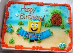 Spongebob candy kit cake
