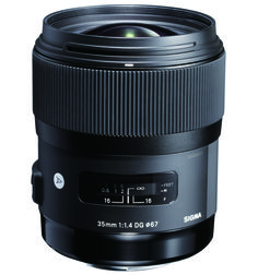 High speed 35mm with large aperture (f/1.4) HSM (Hypersonic motor) and inner focusing system Accessories include: Lens Hood (LH730-03), carrying case