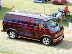 Vintage Custom Vans You'll Want - Fosil Fueled Customised Vans, Custom Vans, Station Wagon, Chevy Trucks, Pickup Trucks, Camper, Old School Vans, High School, Dodge Van