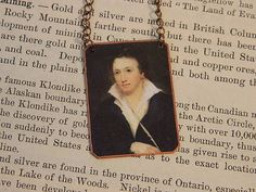 Percy Shelley necklace mixed media  jewelry Literature Jewelry poetry jewelry