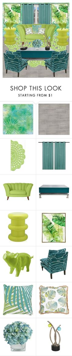 """Teal and green decor"" by gothbear13 ❤ liked on Polyvore featuring interior, interiors, interior design, home, home decor, interior decorating, F, WALL, Maison Jansen and Kartell"