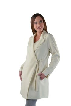 cf4ac35abd1 Lightweight assymetrical Spring coat with string closure and angled  pockets. Light and breathable Baby Alpaca   Wool blend makes this perfect  to take the ...