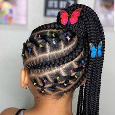 Baby Girl Hairstyles, Natural Hairstyles For Kids, Kids Braided Hairstyles, African Braids Hairstyles, Natural Hair Styles, Little Girl Braids, Braids For Kids, Girls Braids, 4c Hair
