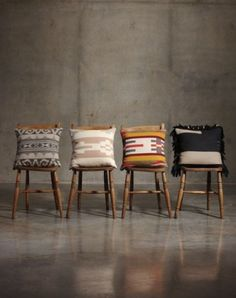 pendleton fall portland collection: that black/white pillow with the fringe!