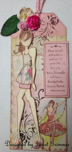 Prima Doll Tag by HeavenlyMoments on Etsy, $5.00