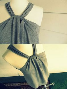 DIY No sew remodel T-shirt halter- Tap the link now to see our super collection of accessories made just for you!