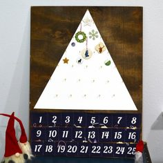 This fun Advent Calendar was fun to make and has a modern, simplistic feel to it.