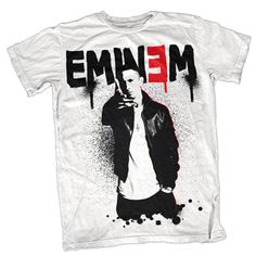 Eminem Sprayed Up Mens Tee - This Eminem Sprayed Up Mens T-Shirt features a graffiti style design that evokes his raw Detroit rap style. Eminem T Shirt, Perfect Gift For Girlfriend, Graffiti Styles, Rock T Shirts, Star Wars Collection, Band Merch, Quality T Shirts, Mens Tees, Crew Neck Sweatshirt