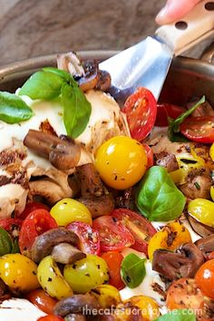 Italian Chicken - Caprese Style - This one comes together so quickly and everyone loves it! thecafesucrefarine.com