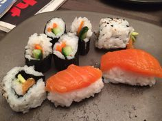 Made my own sushi tonight! Surprisingly easy, and super fun!