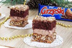 Super ciasto w sam raz na nadchodzące okazje - Andrzejki, Święta Bożego Narodzenia, Sylwester, Nowy Rok - pyszne, czekoladowe, z dodatkiem o...