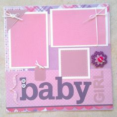 Baby Girl premade scrapbook layout page by ohioscrapper on Etsy, $15.00