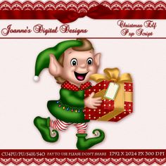 Christmas Elf PspScript $6.00 - 70% off all this month! :) Also available as a Photoshop layered template And check out my new $50 Unlimited Useage License! http://www.joannes-digital-designs.com/christmas-elf-pspscript-p-2337.html