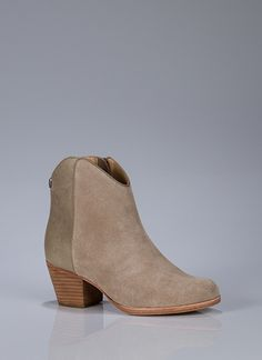 Leather Ankle Bootie.