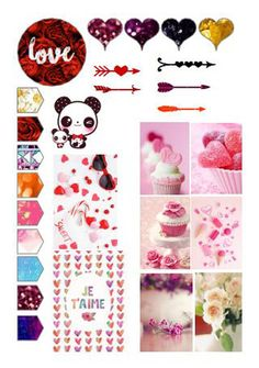 romantics stickers and dividers a5 printable