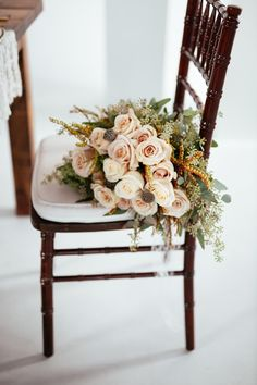 blush color wedding bouquet; photo: Cojo Photo