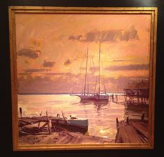 """Tim Bell of Mayo, MD, was awarded Second Place at Plein Air Easton, July 2014, for his painting """"Chicken Point."""" This award was sponsored by the Academy Art Museum. See more of Tim's work at: http://www.southstreetartgallery.com/~shop/list/?prdPerPage=5&catId=46514"""