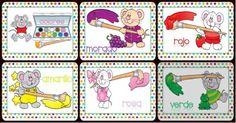 Tarjetas aprendemos los colores con en ratón Colorín Portada